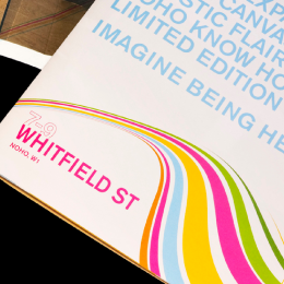Advertising, Branding, Marketing and Print For Commercial Property Clients Designed By Freelance Graphic Design Creative Charlotte Delmonte From Brighton, East Sussex.